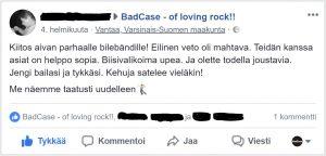 Bilebändi BadCase - arvostelu